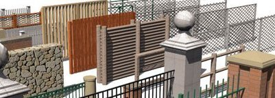 all sorts of garden fencing and fence styles available in Manchester